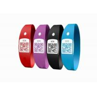 Buy cheap Latex Free Custom Silicone Bracelets / SOS Medical ID Bracelet With Unique QR Code product