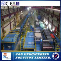 Buy cheap 120m Length Garage Door Manufacturing Equipment , Pu Sandwich Panel Machine For Building from wholesalers