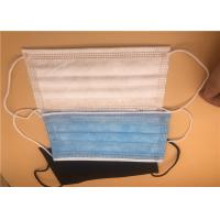 Buy cheap 3 Ply Disposable Earloop Face Mask Non Woven / Disposable Medical Masks from wholesalers