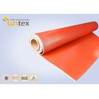 Buy cheap Greater Abrasion Resistant Silicone Coated Fiberglass Fabric For Removable Thermal Insulation Covers And Pads from wholesalers