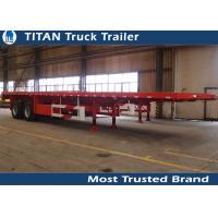 Buy cheap 40FT 2 Axles flat bed container delivery trailer with 12 pcs container lock from wholesalers