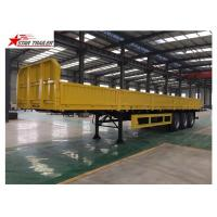 Buy cheap 30-60 Tons Front Load Trailer Drop Side Wall And Checked Steel Floor product