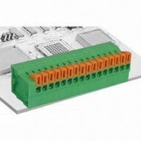 Buy cheap PCB Screwless Terminal Connector with 2.54mm Pitch, 150V Voltage and 2A Current from wholesalers