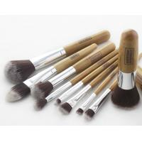 Buy cheap Customization Natural Bamboo Handle Makeup Brushes Synthetic Hair from wholesalers
