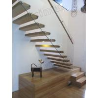 stainless steel handrails wood staircase floating stairs Manufactures