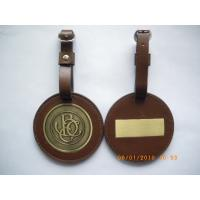 Buy cheap Round brown PVC Personalised Bag Tags match your pantone chart from wholesalers