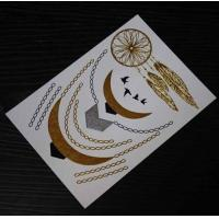 Buy cheap 99 designs FDA Sexy Necklace jewlery star gold silver waterproof wholesale flash tattoos from wholesalers