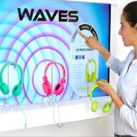 Quality Sensing Technology Interactive Showcase Digital Display For Retail Shop for sale