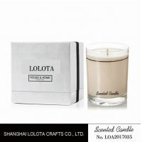 Buy cheap Brown Color Soy Wax Home Scented Candle In Clear Jar With French Linen Fragrance from wholesalers