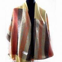 Wholesale Scarf in Various Designs, Weighs 180g, Made of 45% Acrylic and 55% Polyester from china suppliers