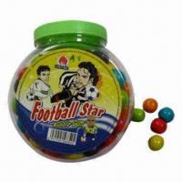 Buy cheap Football-shaped bubble gums, available in various flavors and colors from wholesalers