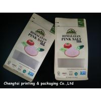 Buy cheap Himalayan Salt Paper Pouch Packaging Kraft Paper Pouch With Zip Lock / Block Bottom from wholesalers