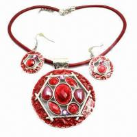 Buy cheap Personal design round-shaped Chain necklace with earrings from wholesalers
