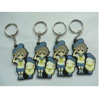 Buy cheap Lovely 2D/3D Schoolboys Shape Rubber Soft PVC Key Ring / Key Holders ,Custom Print Company Site back For Sale from wholesalers