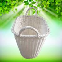 Buy cheap PP Rattan Woven Synthetic Wicker Oval Home Storage Basket Toys Debris Snack Storage rolling woven white wicker laundry from wholesalers