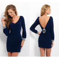Sexy Deep V Back Ladies Party Dresses V Neck for Evening Party Manufactures