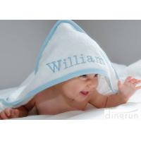 Buy cheap Durable White Hooded Baby Towels Embroidered For Family 350gsm from wholesalers