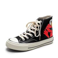 Buy cheap Fashion Casual Canvas Sneakers High Top Cotton Fabric Lining Material from wholesalers