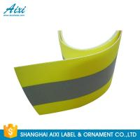 Wholesale PVC Clear 2*1CM Elastic Reflective Clothing Tape Reflective Fabric from china suppliers