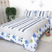 Buy cheap Cotton applique printed patchwork quilts, can be both hand, machine wash, OEM services are welcome from wholesalers