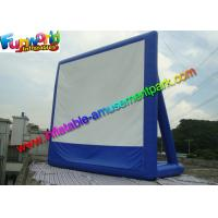 Wholesale 11 x 10 Dark Blue Inflatable Movie Screen , Inflatable Projector Screens / Theater from china suppliers