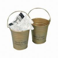 Buy cheap Gift Tin Bucket with Printing, Logo and Nice Design from wholesalers