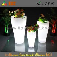 Buy cheap Plastic Illuminated Flower Pots , Illuminated Garden Planters Infrared Remote Control from wholesalers