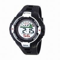 Buy cheap Fashionable Gents Sports Wristwatch with 1.5 Seconds/24 Hours Time Error from wholesalers