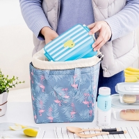 Buy cheap Flamingo Print D13cm Insulated Lunch Cooler Bags from wholesalers
