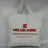 Buy cheap Large Plain Cotton Canvas Tote Bags Silk Screen Printing Hot Stamping from wholesalers
