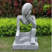 Buy cheap Professional modern abstract stone sculpture with low price in garden from wholesalers