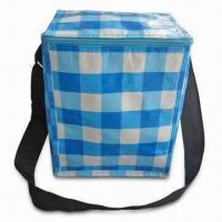 PP Woven Cooler Bag with Totally Open Color, Aluminum Foil Lining, Adjustable Shoulder Straps Manufactures