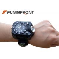 Wholesale 5 Files CREE XPE Q5 LED Flashlight USB Charge Wrist Watch Light with Compass from china suppliers