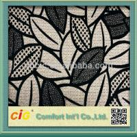 Buy cheap High End Flocking Sofa Upholstery Fabric , Leaf Design Chair Fabrics from wholesalers