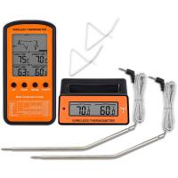 Buy cheap Wireless Remote Digital Cooking Food Meat Thermometer Instant Read with Oven Probe for Oven and Dual Probes for Kitchen from wholesalers