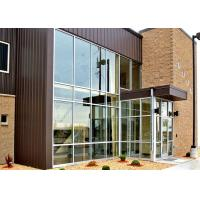 Buy cheap Single Slope Tapered Commercial Steel Frame Buildings With Large Glass Curtain Wall from wholesalers