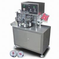 Semi-auto 5 Gallon Cap Labeling Machine, Suitable for Sticking Film on Gallon Cap Manufactures
