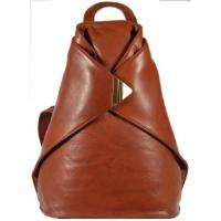 Buy cheap Classic Vintage tan Leather Backpack Messenger Bag Handbag Purse HOBO from wholesalers