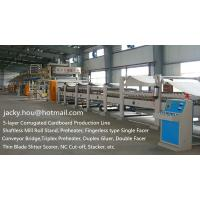 Buy cheap used 5-ply Corrugated Cardboard Production Line, 5-ply Corrugation Line, 5-ply Corrugated Carton Plant from wholesalers