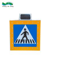 Buy cheap Flashing Led Solar Traffic Signal Red Yellow  Warning Road Sign  Safety Light from wholesalers