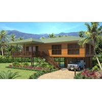 Buy cheap Light Steel Wooden House Bungalow / Luxury Beach Bungalows For Thailand from wholesalers