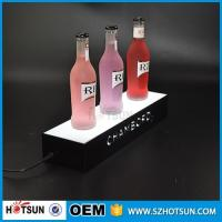 Buy cheap factory direct sale clear display holder stand, laser cutting thick acrylic customized led base from wholesalers
