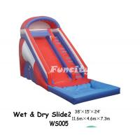 Buy cheap Red / Blue Inflatable Dry Slide Kids Slipping Inflatable Fun City With Pool from wholesalers