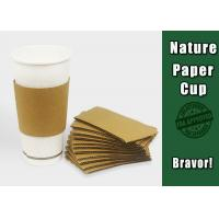 Buy cheap Food Containers Paper Cup Sleeves Eco - Friendly For Chicken / Popcorn from wholesalers