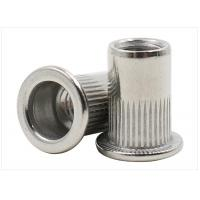 Buy cheap Stainless Steel Flat Head Ribbed Rivet Nuts , Grade 4.8 Grade 12.9 Knurled Rivet Nut from wholesalers