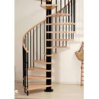 Wholesale Villas design  wood stainless steel small spiral stairs from china suppliers