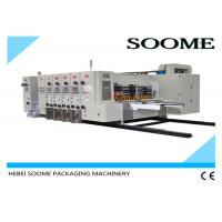 Buy cheap 4 Colors Flexo Printer Slotter Die Cutter Rotary Water Based Printing With Glazer Dryer from wholesalers