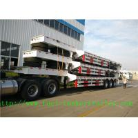 Buy cheap 3 Axles 60 tons steel Low Bed Semi Trailer with hydraulic ladder from wholesalers