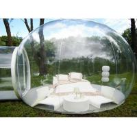 Buy cheap Outdoor Single Tunnel Inflatable Bubble Tent , 3.8M*2.6M Transparent Bubble Tent from wholesalers
