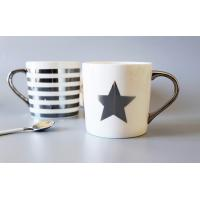 Buy cheap Silver Gold Custom Coffee Mugs / Couples Printing Personalized Coffee Mugs from wholesalers